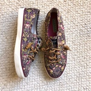 Sperry bird/floral print canvas shoes
